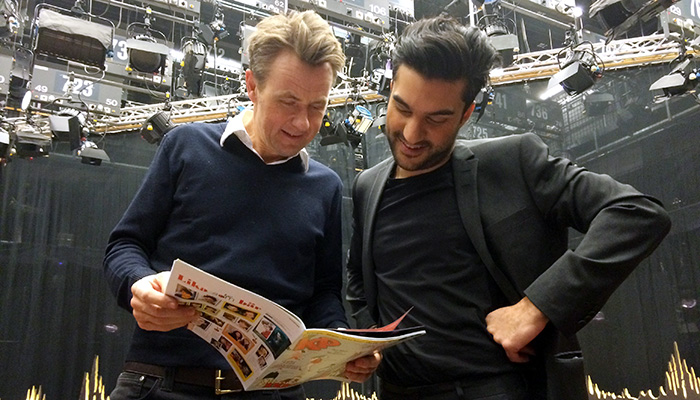 Farsad Farzaneh och Fredrik Skavlan
