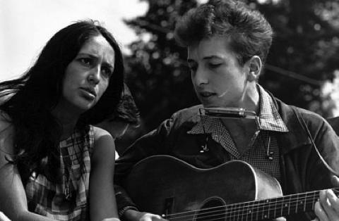 Bob Dylan och Joan Baez.