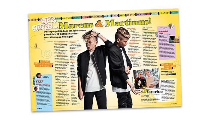 Marcus och Martinus i KP 1, 2017