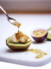 Kiwifrukt med passionsfrukt