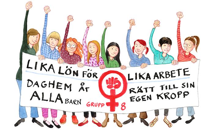Grupp 8 demonsterade ofta i Sverige på 1970-talet