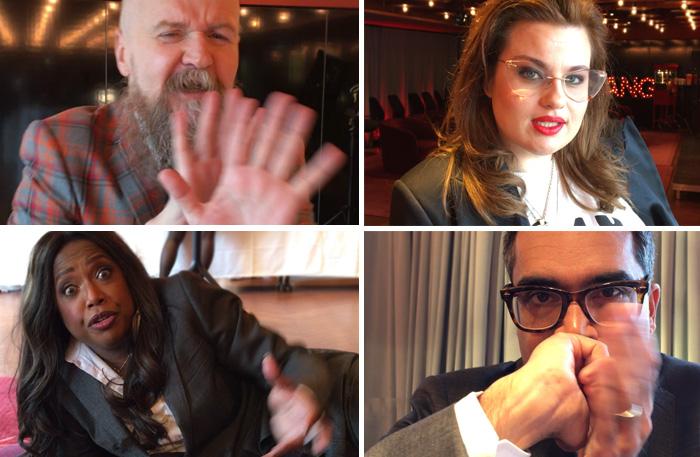 Talang-juryn: Alexender Bard, Kakan Hermansson, LaGayla Fraizer och David Batra