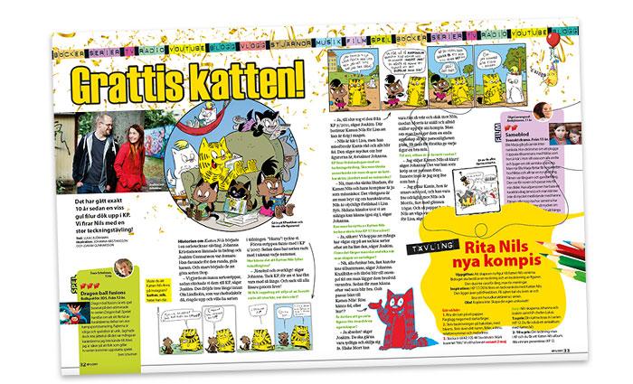 I KP 5 kan du läsa mer om Katten Nils och han skapare Joakim och Johanna.