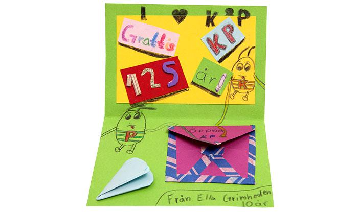 Grattishälsning från Ella, 10.