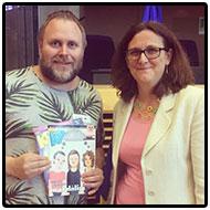 KP-Lukas och Cecilia Malmström