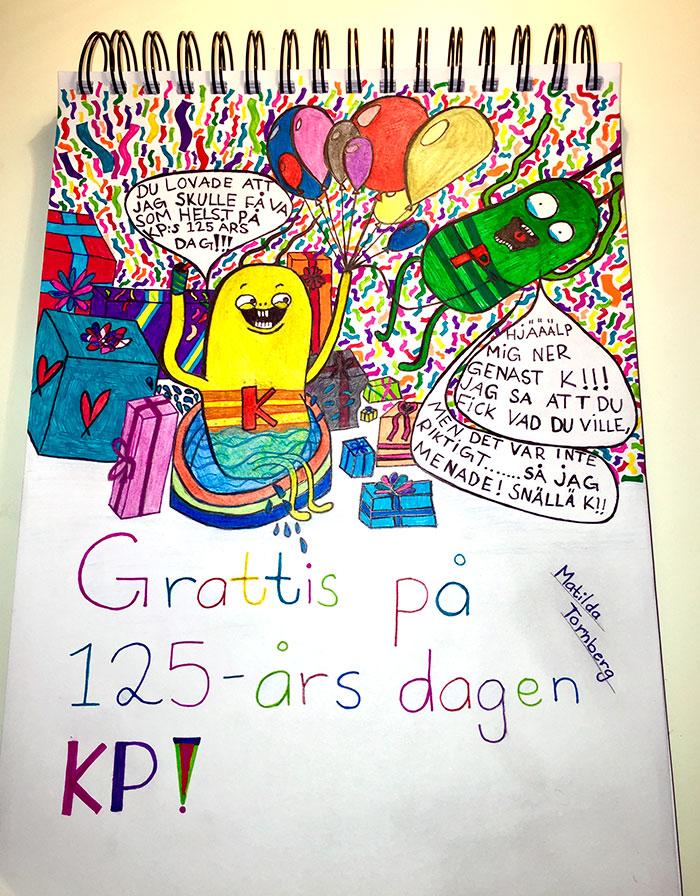 Grattishälsning från Matilda, 12.