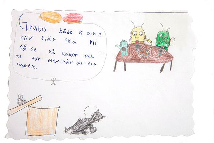 Grattishälsning från Anna, 8.