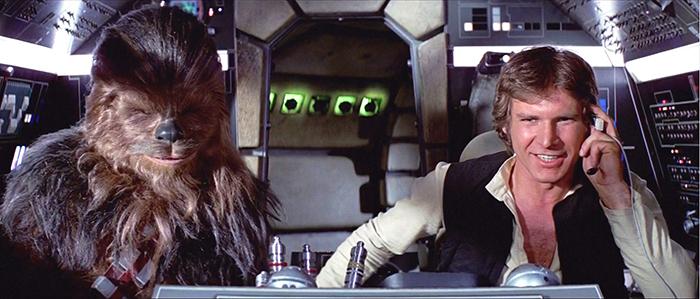 Chewbacca och Han Solo