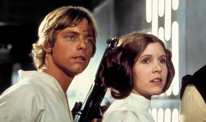 Luke Skywalker och prinsessa Leia i Star wars