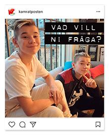 Marcus och Martinus på Kamratpostens Instagram