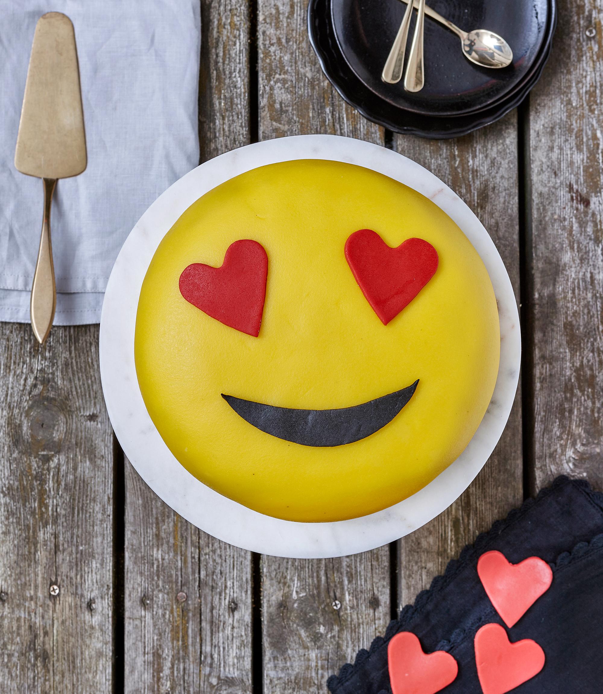 Emoji tårta