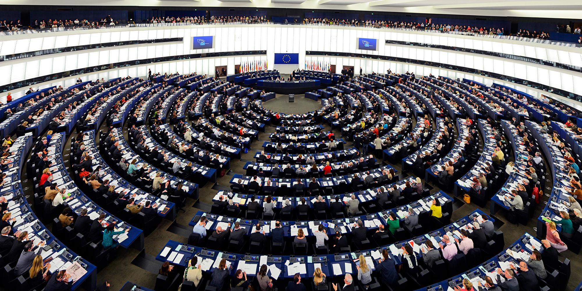 EU parlamentet i Strassbourg.