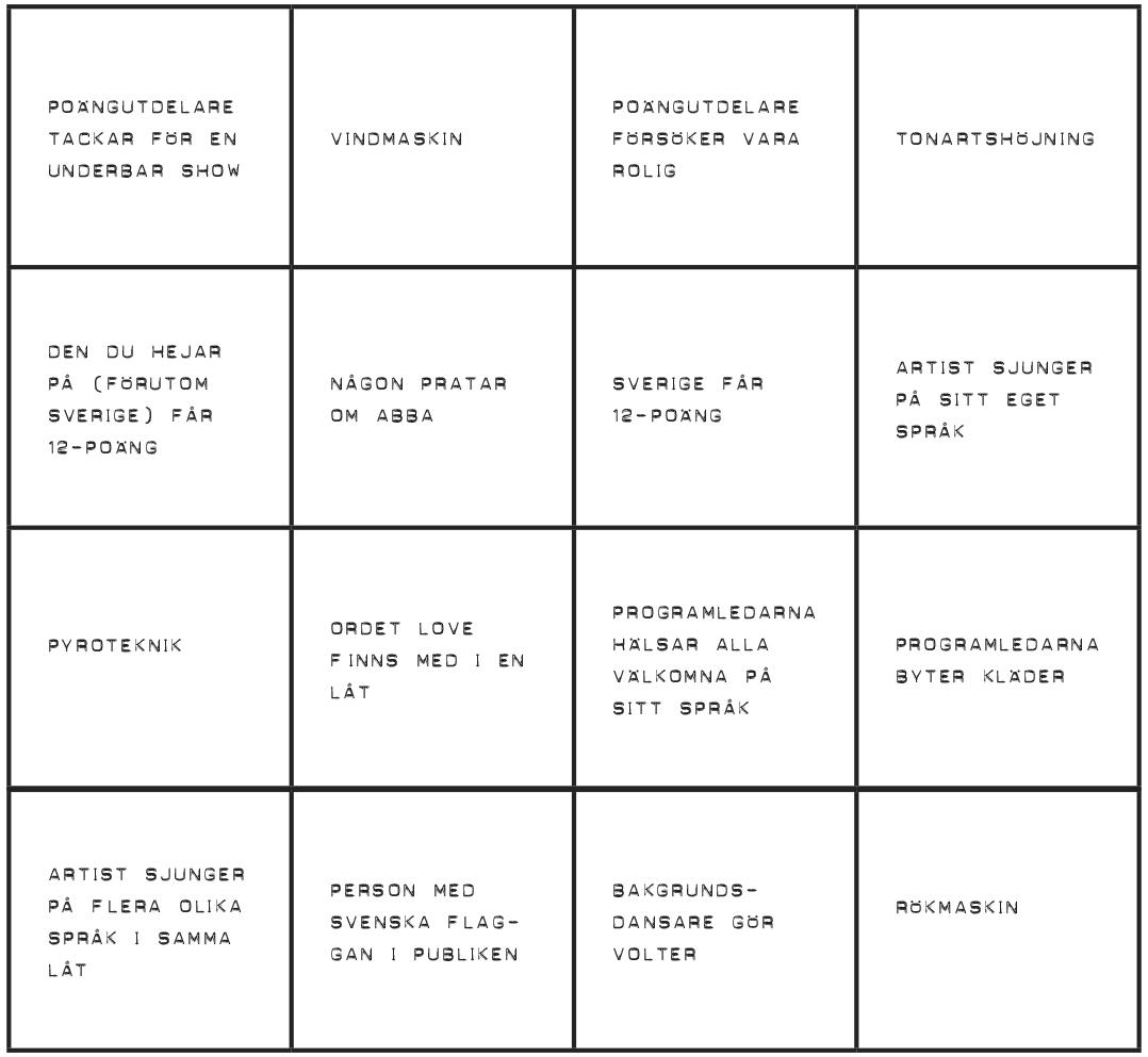 Eurovision-bingo_Bricka 1