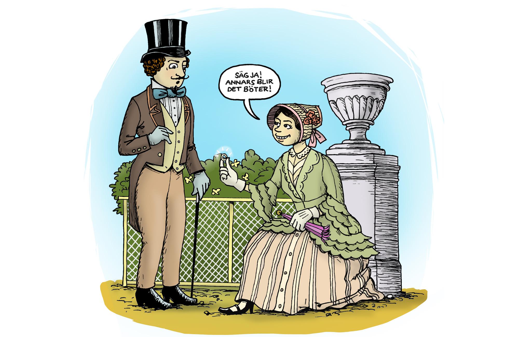 I England fick kvinnor bara fria på skottdagen.